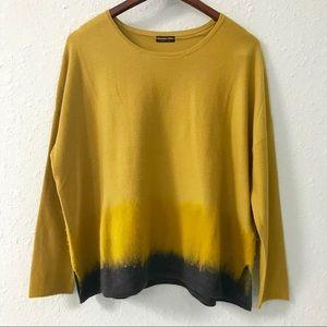 Banana Blue 100% Merino wool ombré sweater size S